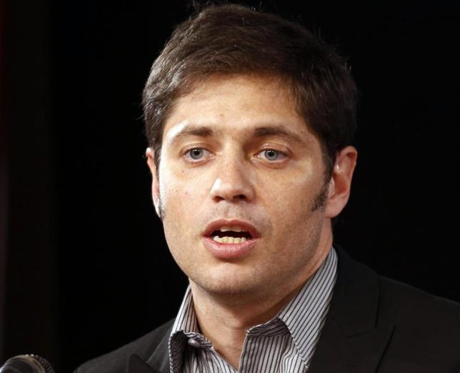 Argentina's Economy Minister Axel Kicillof speaks during a news conference in Buenos Aires, July 31, 2014. REUTERS/Marcos Brindicci