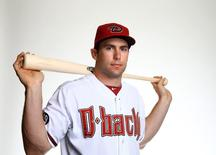 Feb 19, 2014; Scottsdale, AZ, USA; Arizona Diamondbacks first baseman Paul Goldschmidt poses for a portrait during photo day at Salt River Field. Mandatory Credit: Mark J. Rebilas-USA TODAY Sports