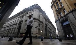 Imagen de archivo del distrito financiero de Buenos Aires, ago 1 2014. El Club de París dijo el lunes que había recibido un primer pago de los atrasos de la deuda de la Argentina según lo prometido en virtud de un acuerdo alcanzado en mayo. REUTERS/Marcos Brindicci