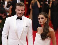 David e Victoria Beckham no Metropolitan Museum of Art Costume em Nova York. 05/05/2014 REUTERS/Lucas Jackson