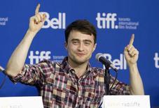 O ator Daniel Radcliffe concede entrevista coletiva no Festival Internacional de Cinema de Toronto, no Canadá, em setembro do ano passado. 08/09/2013 REUTERS/Fred Thornhill
