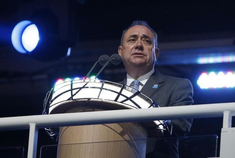 First Minister of Scotland Alex Salmond speaks during the opening ceremony for the 2014 Commonwealth Games at Celtic Park in Glasgow, Scotland, July 23, 2014.          REUTERS/Phil Noble