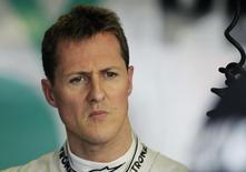 Foto de arquivo do piloto alemão Michael Schumacher durante sessão de treinos para o Grande Prêmio da Ausrtrália de 2011. 25/03/2011. REUTERS/Mark Horsburgh