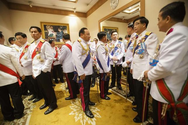 National Legislative Assembly members gather before the inauguration ceremony of the National Legislative Assembly at the parliament house in Bangkok August 7, 2014. REUTERS/Athit Perawongmetha