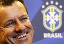 Técnico Dunga durante entrevista coletiva no Rio de Janeiro. 22/07/2014 REUTERS/Ricardo Moraes
