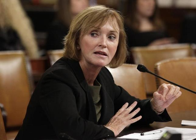 Marilyn Tavenner, administrator of the Centers for  Medicare & Medicaid Services, testifies before a House Ways and Means Committee hearing on ''Affordable Care Act Implementation on Capitol Hill in Washington, October 29, 2013. REUTERS/Yuri Gripas