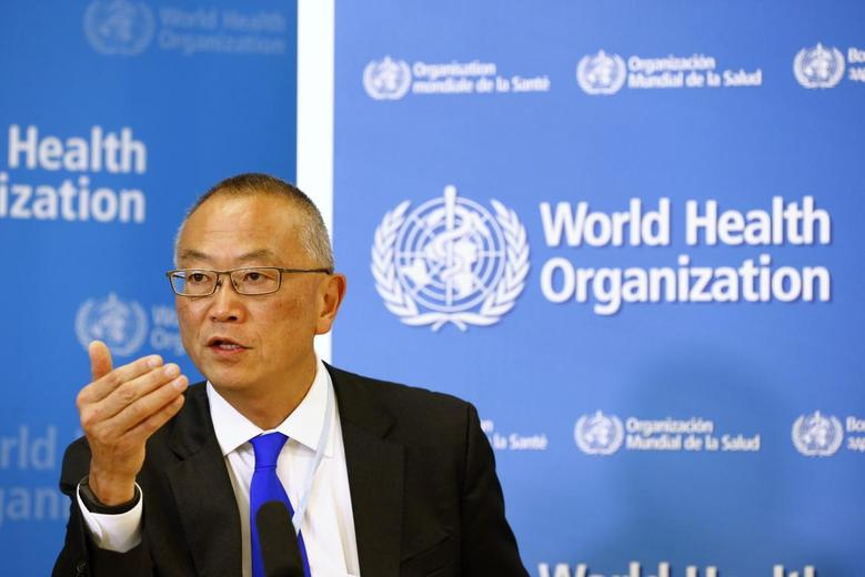Keiji Fukuda, World Health Organization's (WHO) assistant director general for health security, addresses the media after a two-day meeting of its emergency committee on Ebola, in Geneva August 8, 2014.  REUTERS/Pierre Albouy