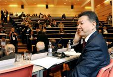 Current President of the World Chess Federation (FIDE) Kirsan Ilyumzhinov is pictured during the FIDE presidential elections in Tromso August 11, 2014.  REUTERS/Rune Stoltz Bertinussen/NTB Scanpix