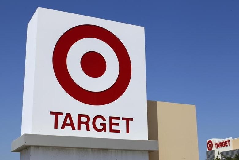 A Target sign is pictured next to one of their stores in Vista, California in this file photo taken April 16, 2014.  REUTERS/Mike Blake/Files