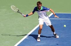 Tommy Robredo enfrenta Novak Djokovic no Masters de Cincinnati, nos Estados Unidos, nesta quinta-feira. 14/08/2014 REUTERS/Mark Zerof/USA TODAY