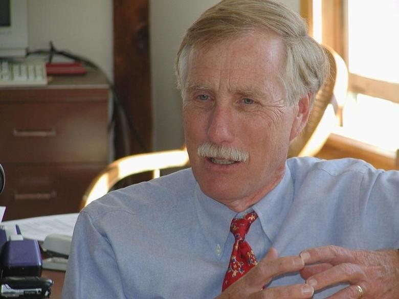 Senator Angus King is pictured in this undated photograph released on June 22, 2012.  REUTERS/Courtesy of the Office of Angus King/Handout