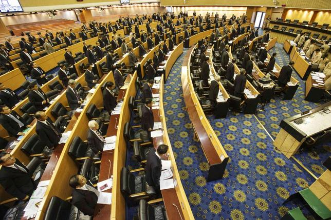 National Legislative Assembly members attend during a vote for a new President of The National Assembly at The parliament house in Bangkok August 8, 2014.  REUTERS/Athit Perawongmetha