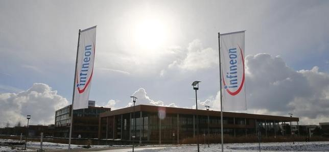 The headquarters of German semiconductor manufacturer Infineon are pictured in Neubiberg near Munich, January 28, 2014. REUTERS/Michael Dalder