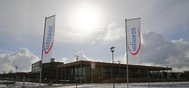 The headquarters of German semiconductor manufacturer Infineon are pictured in Neubiberg near Munich, January 28, 2014. REUTERS/Michael Dalder
