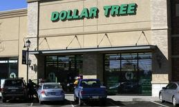 A view of the sign outside the Dollar Tree store in Westminster, Colorado is seen in this file photo taken February 26, 2014. REUTERS/Rick Wilking/Files