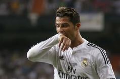 Cristiano Ronaldo em jogo do Real Madrid na Supercopa da Espanha contra o Atlético Madri. 19/06/2014 REUTERS/Juan Medina