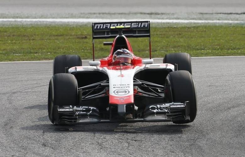 Marussia Formula One driver Max Chilton of Britain drives during the Malaysian F1 Grand Prix at Sepang International Circuit outside Kuala Lumpur, March 30, 2014. REUTERS/Samsul Said
