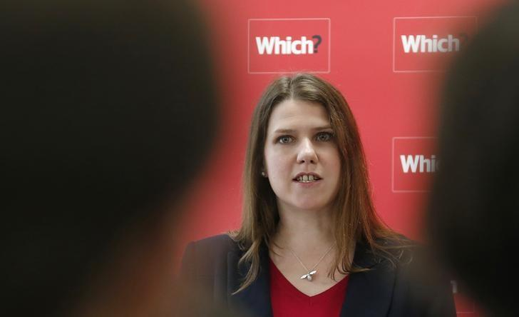 Jo Swinson speaks during a news conference about the consumer payday loan market, in London March 6, 2013. REUTERS/Suzanne Plunkett