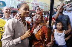 A candidata do PSB à Presidência, Marina Silva, faz campanha em São Paulo, no domingo. 24/08/2014 REUTERS/Paulo Whitaker