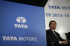 Jaguar Land Rover (JLR) Chief Executive Officer Ralf Speth looks on during a news conference to announce Tata Motors' third quarter results in Mumbai February 10, 2014. REUTERS/Danish Siddiqui