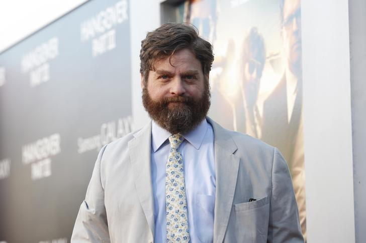 Cast member Zach Galifianakis poses at the premiere of ''The Hangover Part III'' at the Westwood Village theatre in Los Angeles, California May 20, 2013. The movie opens in the U.S. on May 23.  REUTERS/Mario Anzuoni