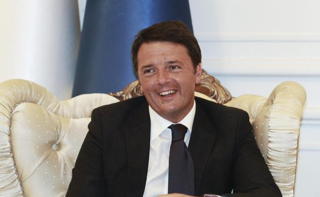 Italy's Prime Minister Matteo Renzi meets with Iraq's Prime Minister-designate Haider al-Abadi in Baghdad August 20, 2014. REUTERS/Mahmoud Raouf Mahmoud