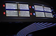Sorteio dos grupos da Liga dos Campeões em Mônaco.      REUTERS/Eric Gaillard