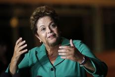 Presidente Dilma Rousseff durante entrevista no Palácio da Alvorada, em Brasília.  25/8/2014. REUTERS/Ueslei Marcelino