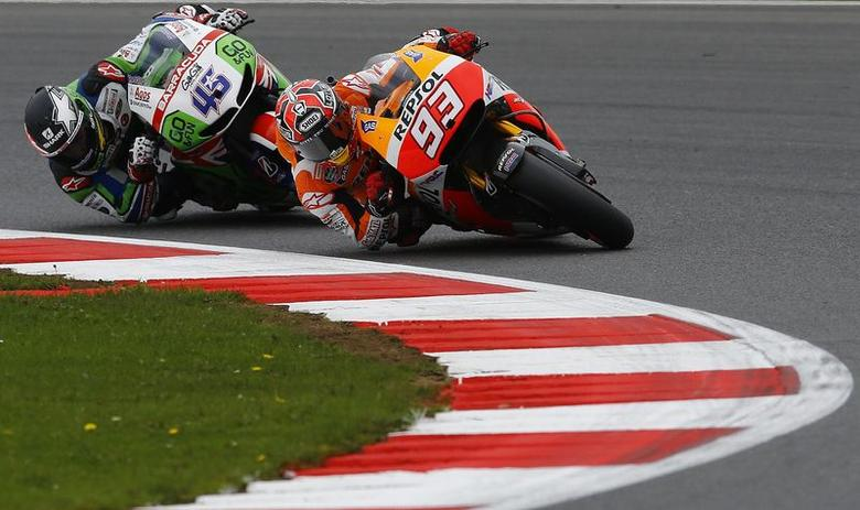 Marquez on pole at Silverstone
