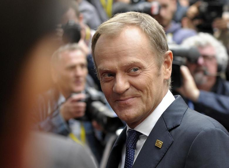 Poland's Prime Minister Donald Tusk arrives at the European Council headquarters ahead of a EU summit in Brussels August 30, 2014. REUTERS/Laurent Dubrule