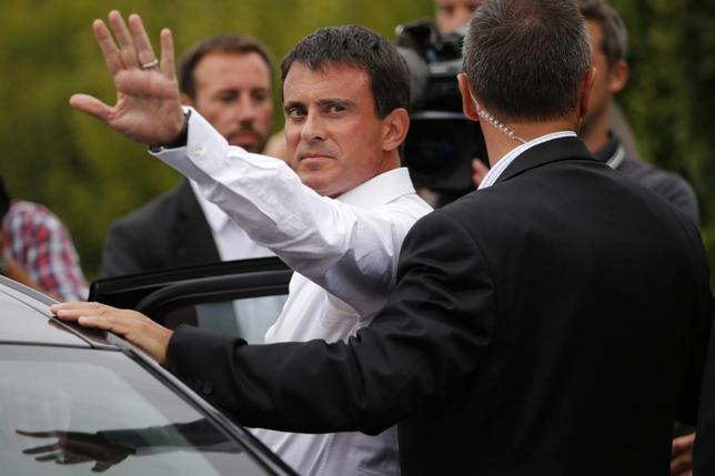 France's Prime Minister Manuel Valls is seen during the Socialist Party's ''Universite d'ete'' summer meeting in La Rochelle, western France, August 30, 2014. REUTERS/Stephane Mahe