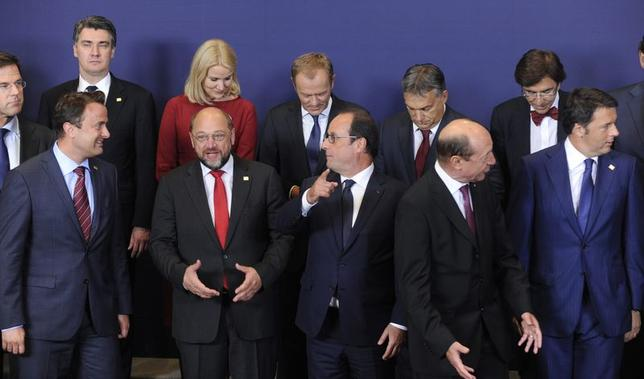 European Union leaders take part in a group photo at the European Union summit in Brussels August 30, 2014. REUTERS/Eric Vidal