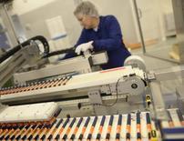 Fabricação de insulina em uma planta da marca Novo Nordisk em Kalundborg, na Dinamarca. 4/11/2013. REUTERS/Fabian Bimmer
