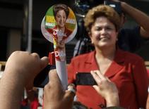 Presidente Dilma Rousseff em campanha em São Bernardo do Campo. 2/9/2014 REUTERS/Paulo Whitaker