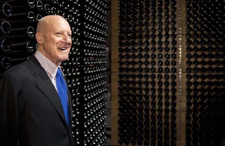 British architect Norman Foster poses for photographers during the opening of new winery Portia in the region of Ribera del Duero in Gumiel of Hizan, near Burgos October 28, 2010. REUTERS/Felix Ordonez