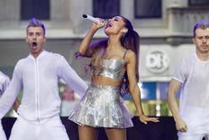 Singer Ariana Grande performs on NBC's 'Today' show in New York August 29, 2014. REUTERS/Brendan McDermid
