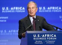 L'ancien maire de New York Michael Bloomberg va reprendre la direction de l'agence de données et d'informations économiques et financières Bloomberg LP, qu'il a fondée en 1981. /Photo prise le 5 août 2014/ REUTERS/Jonathan Ernst