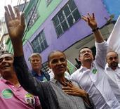 Marina Silva faz campanha na Rocinha, no Rio de Janeiro. 30/08/2014 REUTERS/Ricardo Moraes