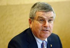 Presidente do COI, Thomas Bach, durante reunião do comitê executivo em Lausanne. 07/07/2014 REUTERS/Denis Balibouse