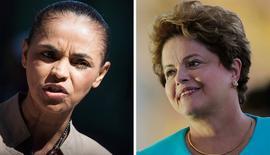 Combinação de fotos de Marina Silva e Dilma Rousseff. REUTERS/Bruno Santos (esquerda) e REUTERS/Ueslei Marcelino  (BRAZIL - Tags: POLITICS ELECTIONS)