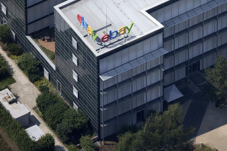 Aerial view of German ebay headquarters in Kleinmachnow July 20, 2014.REUTERS/Axel Schmidt
