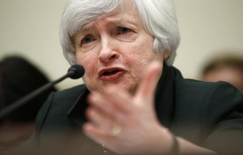 U.S. Federal Reserve Chair Janet Yellen testifies before the House of Representatives Financial Services Committee on Capitol Hill in Washington July 16, 2014. REUTERS/Kevin Lamarque