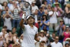 Chinesa Na Li, que anunciou aposentadoria, após partida em Wimbledon este ano. 23/06/2014 REUTERS/Stefan Wermuth