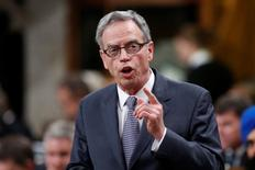 Canada's Finance Minister Joe Oliver speaks during Question Period in the House of Commons on Parliament Hill in Ottawa September 15, 2014. REUTERS/Chris Wattie