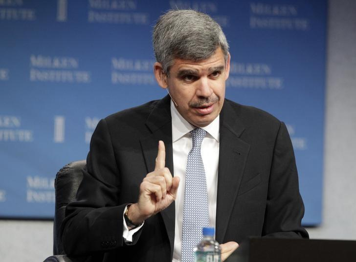 Mohamed A. El-Erian, CEO and co-CIO of PIMCO, takes part in a panel discussion titled ''Global Markets in Uncertain Times'' at the Milken Institute Global Conference in Beverly Hills, California in this April 29, 2013 file photo.  REUTERS/Fred Prouser