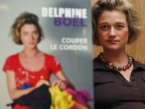 "Belgian artist Delphine Boel, who says she is the illegitimate daughter of Belgian King Albert II, presents her book ""Cutting the Cord"" in Brussels, in which she recounts her life and show examples of her art, April 9, 2008. REUTERS/Francois Lenoir"