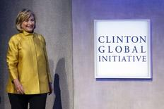 "Former U.S. Secretary of State Hillary Clinton walks on stage during the plenary session titled ""Equality for Girls and Women: 2034 Instead of 2134?"" at the Clinton Global Initiative 2014 (CGI) in New York, September 24, 2014.    REUTERS/Shannon Stapleton"