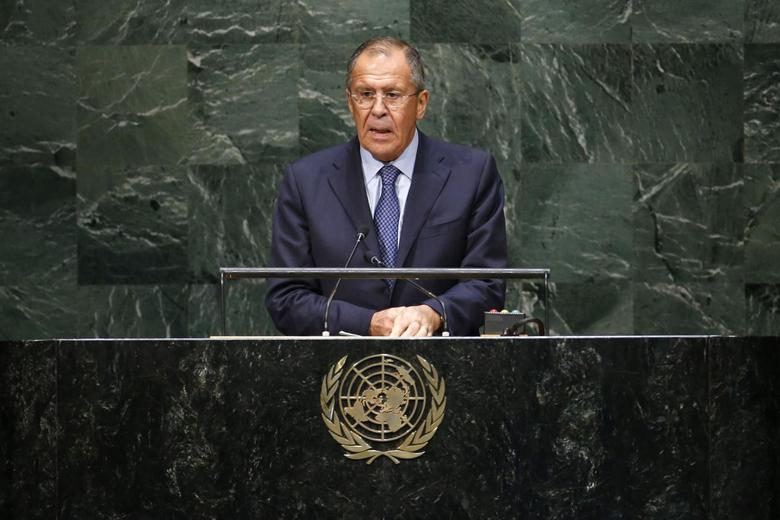 Russia's Foreign Minister Sergei Lavrov addresses the 69th United Nations General Assembly at the U.N. headquarters in New York September 27, 2014. REUTERS/Eduardo Munoz