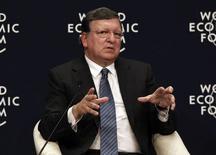 Presidente da Comissão Europeia, José Manuel Barroso, durante o Fórum Econômico Mundial. 29/09/2014 REUTERS/Osman Orsal