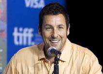 "Actor Adam Sandler attends a news conference to promote the film ""Men, Women & Children"" at the Toronto International Film Festival (TIFF) in Toronto, September 6, 2014. REUTERS/Fred Thornhill"